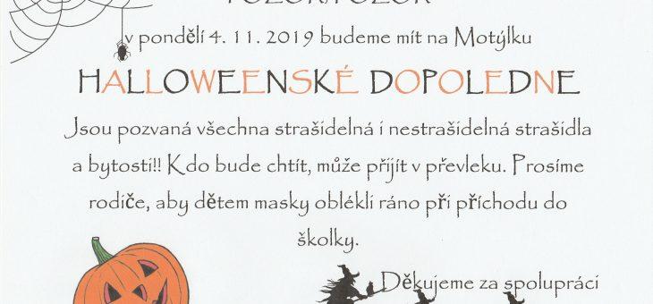 Halloweenské dopoledne