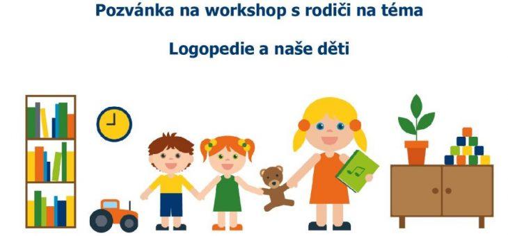 """13.11. beseda pro rodiče na téma """"Logopedie"""""""